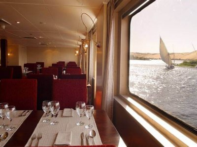 Yacht Alexander the Great Restaurant Red Fiesta